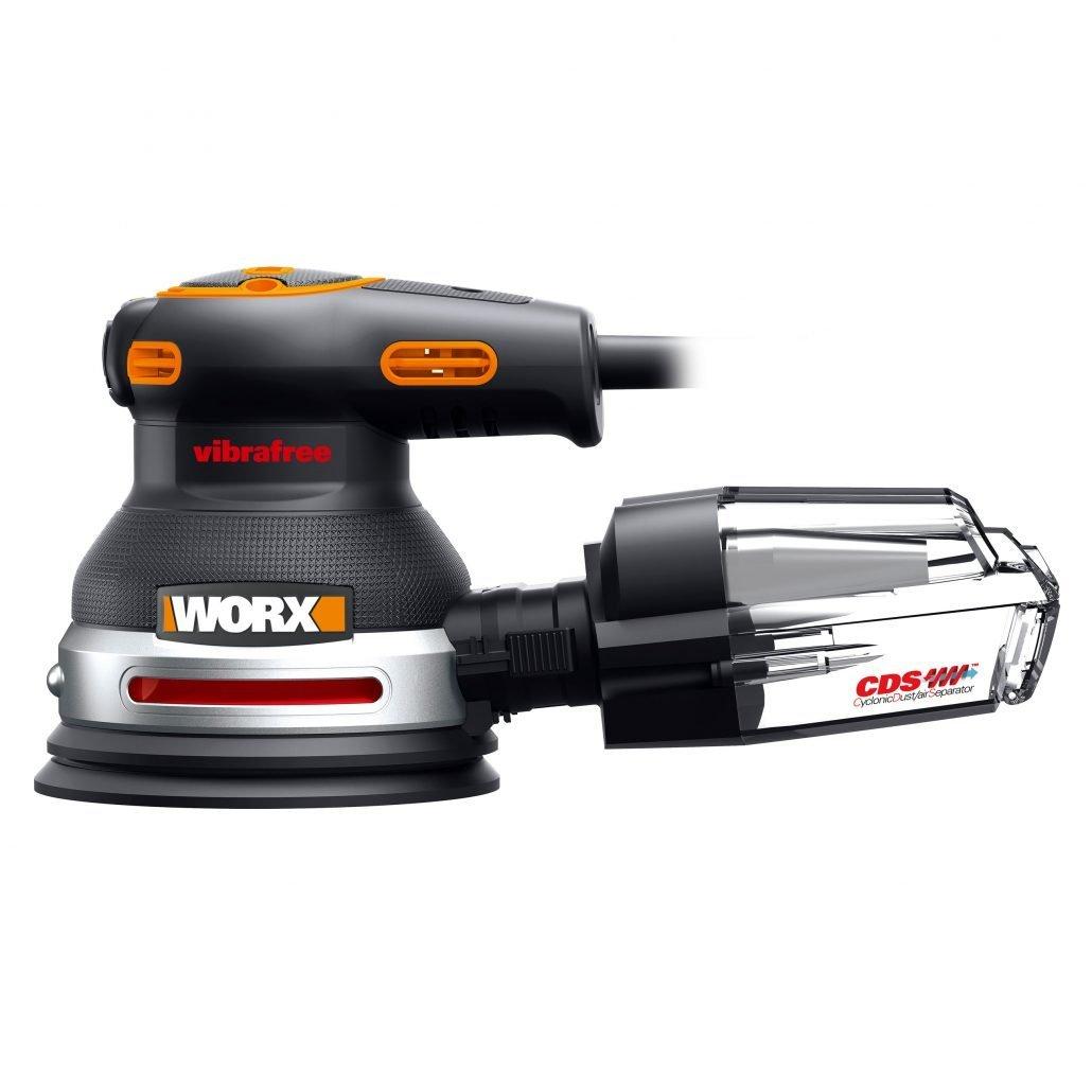 worx 380w exzenterschleifer vibrafree wx655 - minimale vibration